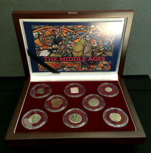 Middle Ages Authentic 8 Silver Coin Collection Remarkable Historical Period