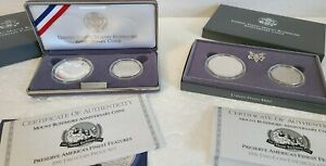 1991 Mount Rushmore Comm. Silver Coin Set -Proof AND Uncirculated
