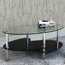 NOUVEAU meuble Table de salon Table basse Exclusif 3 couches Coffee Table verre