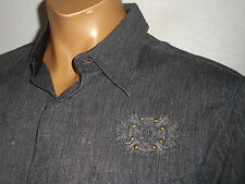 FENDER Button Up GUITAR Shirt ROCK N ROLL RELIGION Embroidered NEW Slim XL (LG)