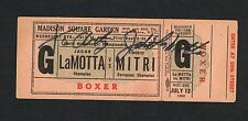 RARE 1950 World Championship Jake LaMotta vs Tiberio Mitri  full boxing ticket