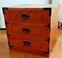 Japanese Tansu cheset storage Box Wooden Sugi Cedar ware 24cm