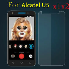 1/2x Real Tempered Glass Screen Protector Protective Film Guard For Alcatel U5