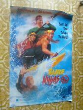 Surf Ninjas Movie Poster Leslie Nielsen Boys Surfing Video Store Promotional