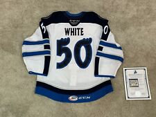 Manitoba Moose Game Worn Used AHL Authentic CCM Quicklite White 18/19 Jersey