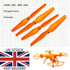 Syma X8C X8W X8G Propellers Blades (orange) - Spare Parts for Quadcopter Drone