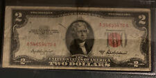 1953 Series A Offcenter Misprint Two Dollar Note Red Seal $2 Bill US CURRENCY