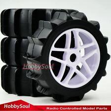 4Stück RC 1/8 Paddle Reifen Tires Hex 17mm Felge für RC 1:8 Off Road Buggy Car