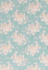 Hammer Preis Tilda Stoff 1 Meter White Flower Grau-grün Blumen 100x110 cm