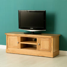 Hampshire Oak TV Stand with Cupboards/ Modern TV Cabinet /Solid Wood with Plinth