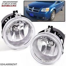 1 Pair For Dodge Challenger Charger Nitro Avenger Caliber Clear Lens Fog Lights (Fits: Dodge Avenger)