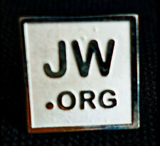 PIN JW.org SQUARE LAPEL STERLING SILVER  High Relief CLIP LAPEL Watchtower