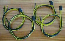 """6 Pin PCI-e 16 AWG 24"""" Best Cable for Gigampz Adapter Bitcoin Power Supply 4/PK"""