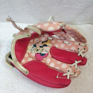 "Disney Minnie Franklin Youth Baseball Mitt Glove Right Hand Throw 9"" Pink Girls"