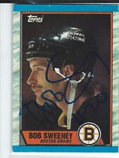 Bob Sweeney Signed 1989/90 Topps Card  #135