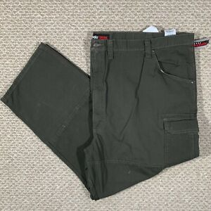 New Wrangler Riggs Workwear Mens Ranger Relaxed Cargo Pants Ripstop Green 54x30
