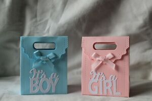 10 x Baby Shower / Gender Reveal Favour Boxes - It's A Girl / Boy