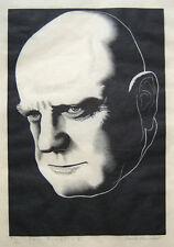 """PAUL LANDACRE Signed 1936 Original Wood Engraving - """"Jan Sibelius"""""""