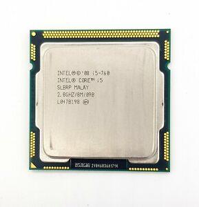 Intel Core i5 760 2.8GHz Quad Core Lynnfield LGA1156 95 W Working CPU Only SALE