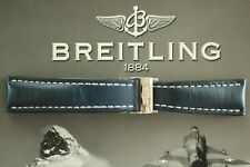BREITLING 102X 24-20 MED. BLUE CALF DEPLOYMENT BUCKLE WATCH BAND WATCHBAND STRAP