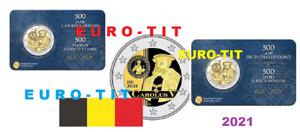 BELGIQUE  CAROLUS  V   2 EURO  2021   2 X COINCARD FRANCE ET FLAMANDE   prévente