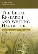 The Legal Research And Writing Handbook: A Basic Approach for-ExLibrary