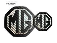 MG ZR LE500 MK2 Front & Rear Insert Badge Logo Set 59mm/95mm Black Carbon Badges