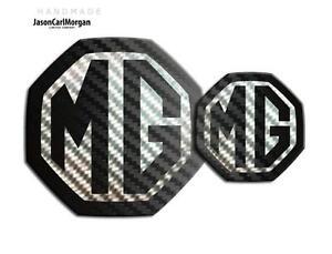 MG ZS ZR LE500 MK2 Front & Rear Emblem Insert Set 59mm/95mm Black Carbon Badges