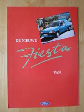 FORD Fiesta Mk3 Van brochure prospekt 1991 1992 - Dutch market