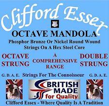 CLIFFORD ESSEX OCTAVE MANDOLA STRINGS. LIGHT GAUGE. 12 - 44. MADE IN BRITAIN.