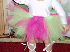 Pink Green Ballet Tutu Doll Clothes fits American Girl Handmade