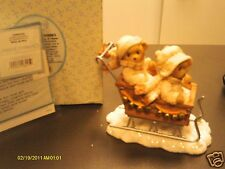 Cherished Teddies ` Fran & Vinny It's Lovely Weather for a Sleigh Ride Together