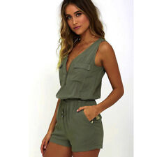 439a3921075 Women Sexy Mini Playsuit Jumpsuit Romper Summer Beach Casual Shorts Mini  Dress