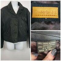Vintage Womens Timberland Weathergear Waterproof black cowhide leather Jacket M