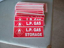 LP GAS STORAGE Decals New Caravan Camper RV Motorhome Trailer Accessories Parts