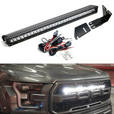 Invisible 30-Inch LED Light Bar w/Mounting Brackets, Wires For 17-21 Ford Raptor
