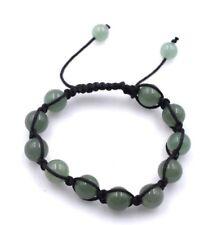 "10mm Genuine Jade Macrame Shamballa Beaded Bracelet  7"" - 8.5"" inches"