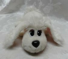 """Pound Puppies Puppy Dog 16"""" White WORKS Barks & Moves Head Plush Red Collar Paw"""