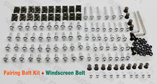 Silver Moto FAIRING BOLTS CLIPS SCREWS+Windshield Bolts For CBR600F3 1995-1998