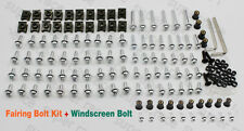 Silver Moto FAIRING BOLTS KIT CLIPS SCREWS+Windshield Bolts For VFR800 2002-2009