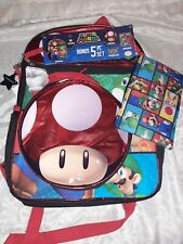 New listing * Nwt * Super Mario 5 Piece Backpack Set