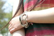 Keith Richards type Handcuff Bracelet.The Rolling Stones.Matte S Women's sizes.