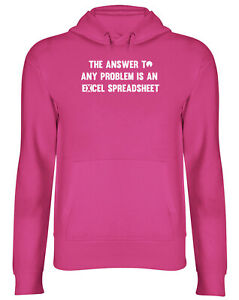The Answer To Any Problem Is An Spreadsheet Mens Womens Hooded Top Hoodie