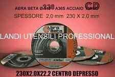 DISCO ABRASIVO * ABRA BETA * DA TAGLIO SMERIGLIATRICE 230 X 2,0mm ACCIAIO CD