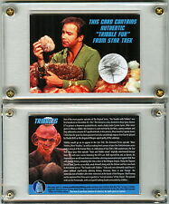 Star Trek TV Prop Card Screen Used Tribble Fur DS9 & TOS Vault Collectibles EXC