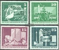 DDR 1842-1843,1853-1854 (kompl.Ausg.) postfrisch 1973 Aufbau in der DDR, Großfor