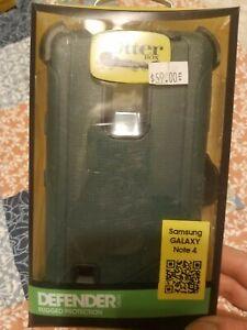 Otter Box Defender Series Samsung Galaxy Note 4 Dark Blue Black Cell Phone Case
