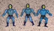 Motu He man Action figure Lot of 3 Skeletors L@@K. Half boot Peach cheeks