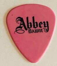 Avril Lavigne concert Guitar Pick authentic Abbey Rose tour signature pink Sk8tr