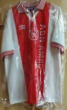 MAGLIA CALCIO SHIRT AJAX HOME FINAL ROME ORIGINAL UMBRO VINTAGE VERY RARE